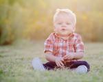 Quinn in grass